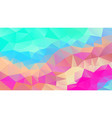 abstract irregular polygonal background rainbow vector image vector image