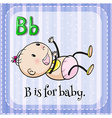 Alphabet B is for baby vector image vector image