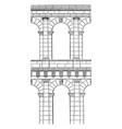 archs antique vintage engraving vector image vector image