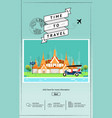 attraction landmarks in thailand website template vector image vector image