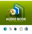 Audio book icon in different style vector image vector image