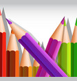 background template with big color pencils vector image vector image