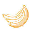 banana fresh fruit icon vector image vector image
