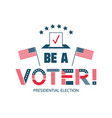 be voter color logo template united states vector image