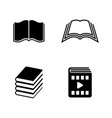 book simple related icons vector image
