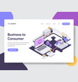 business to consumer isometric vector image vector image