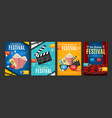 cinema placard set with realistic 3d detailed vector image vector image