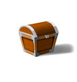 closed pirate chest wooden box symbol of wealth vector image