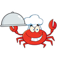 Crab Chef Character Holding A Platter