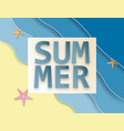 creative summer sale background with sea and vector image vector image