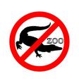 Crocodile in zoo prohibited vector image vector image
