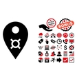Currency Map Marker Flat Icon with Bonus vector image vector image