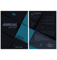 dark leaflet template with layered squares vector image