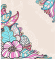 Decorative abstract floral background vector image vector image