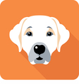 dog Labrador Retriever icon flat design vector image vector image