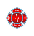 firefighters-logo vector image