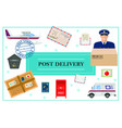 flat post delivery concept vector image