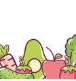 fresh vegetables cartoon vector image vector image