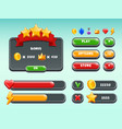 games gui set mobile gaming user interface icons vector image