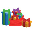 gift box for christmas and birthday icon isolated vector image