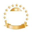 Golden stars in circle vector image vector image