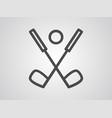golf icon sign symbol vector image vector image
