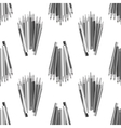 Grey Pencils Seamless Pattern vector image