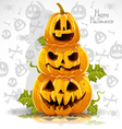 Happy Halloween banner with terrible pumpkins vector image vector image