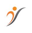 Healthy Life Logo Template vector image vector image