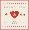 Heart theme wedding card vector image vector image