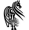 Horse in tribal style - vector image vector image