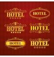 Hotel vintage golden labels vector image vector image