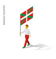 isometric man with flag of vector image vector image