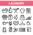 laundry line icon set washing machine vector image