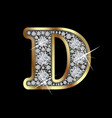 letter d with diamonds vector image