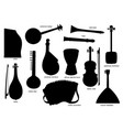 musical instruments black silhouettes vector image
