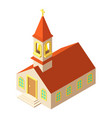 muslim church icon isometric style vector image vector image