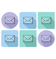 outlined icon closed envelope with parallel vector image vector image