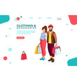 partners love for purchase concept vector image