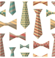 pattern ties and bow ties vector image vector image