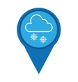 pin marker weather signal icon vector image vector image