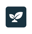 plant icon Rounded squares button vector image vector image