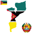 Republic of Mozambique Flag vector image vector image