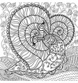 romance snail coloring page vector image