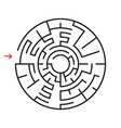 round labyrinth with the entrance and exit an vector image vector image