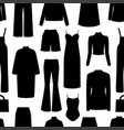seamless pattern with womans clothes vector image