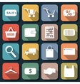 Shopping and trading flat icons vector image vector image