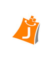shopping online initial j vector image vector image