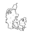 sketch of a map of denmark vector image vector image