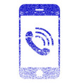 smartphone call textured icon vector image vector image